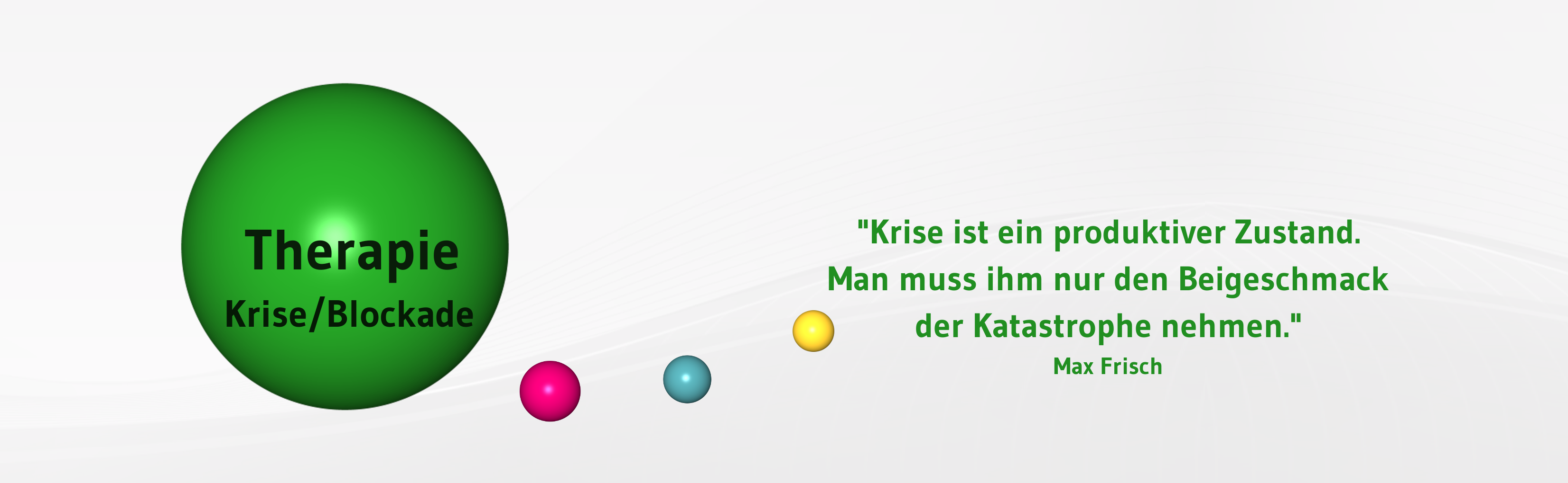 Banner-Therapie-Krise