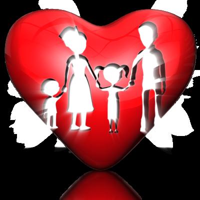 Familie im Herz
